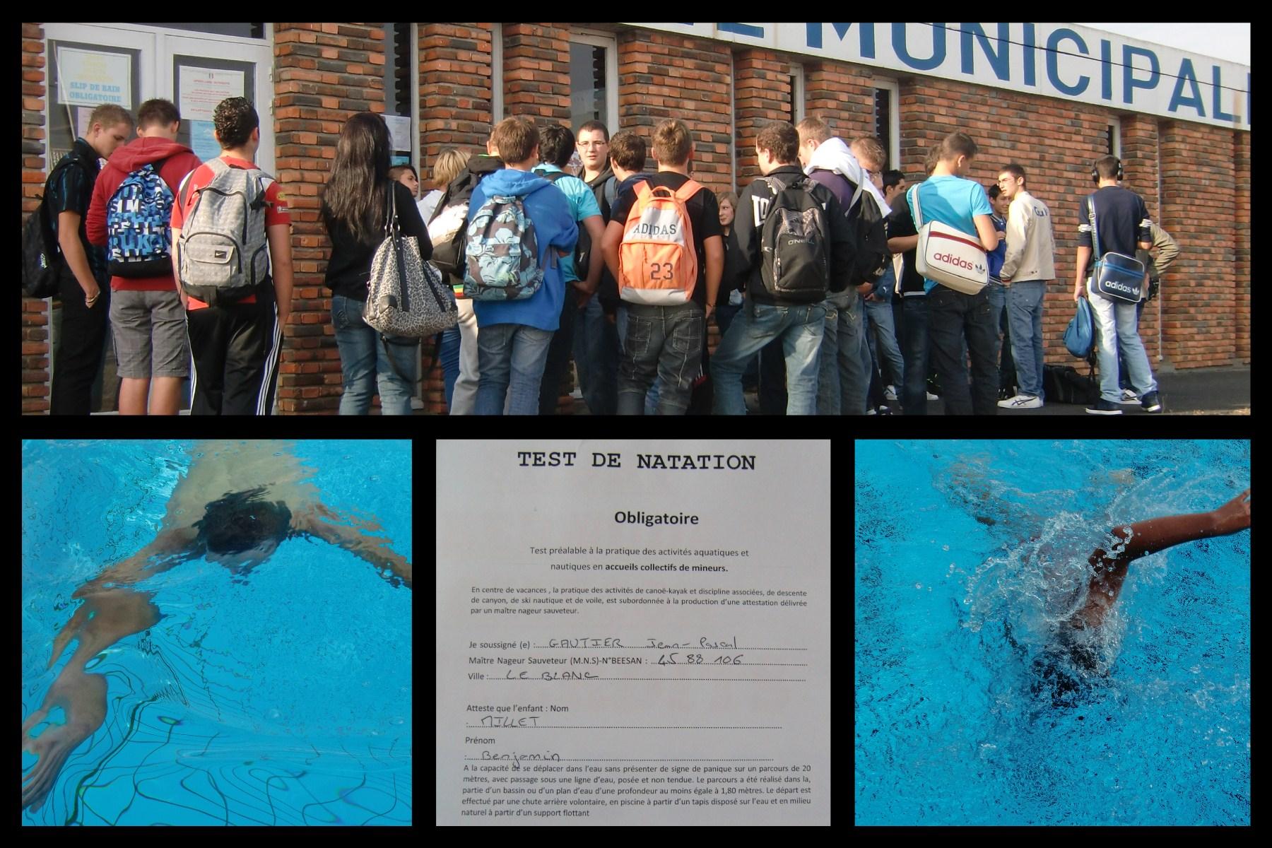 Test de natation